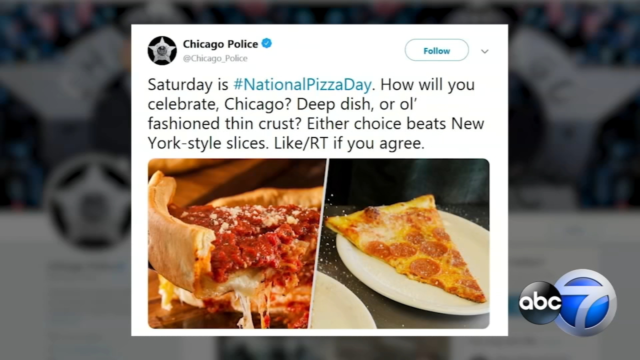 A Chicago Police Department tweet Wednesday sparked a pizza face-off with New York Citys department.