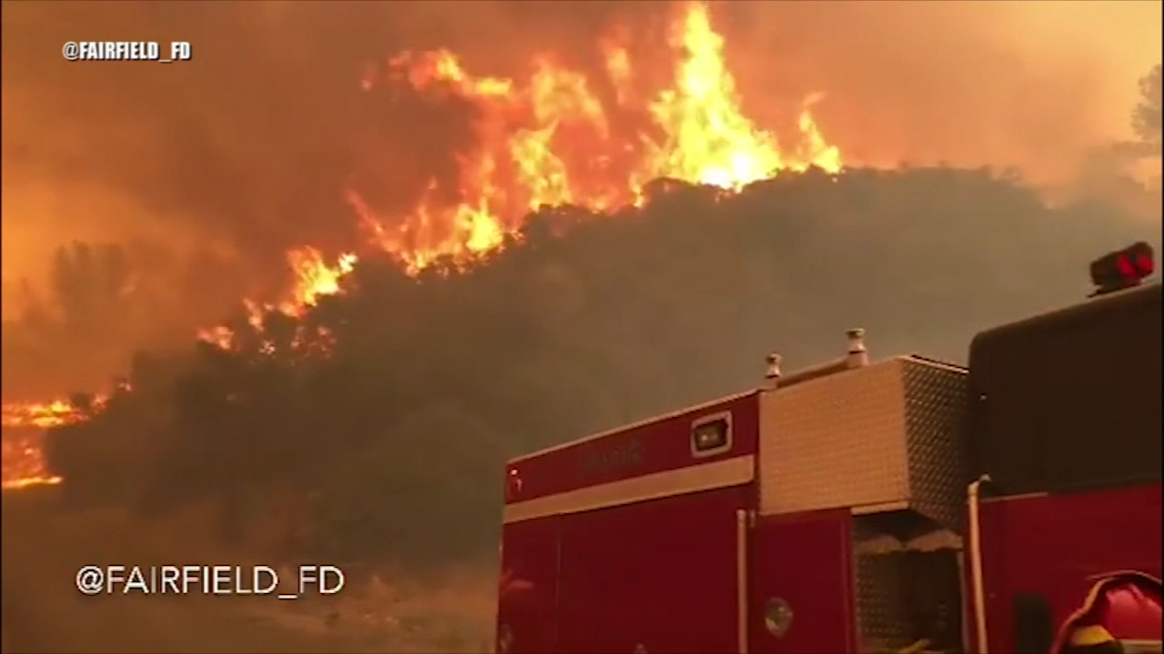 The Holy Fire and the Mendecino Complex Fire continued to burn in California Saturday.