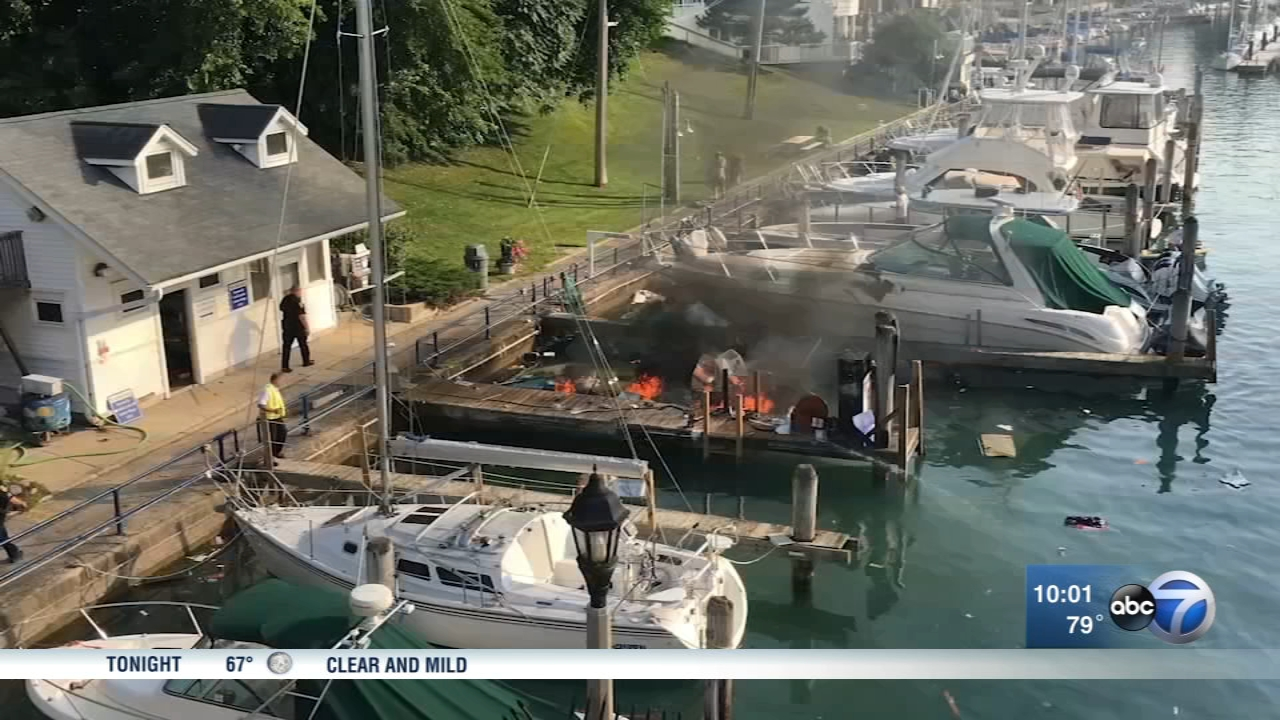 A private boat exploded at about 8 a.m. at the Sheridan Shores Yacht Club in Wilmette Harbor in Wilmette.