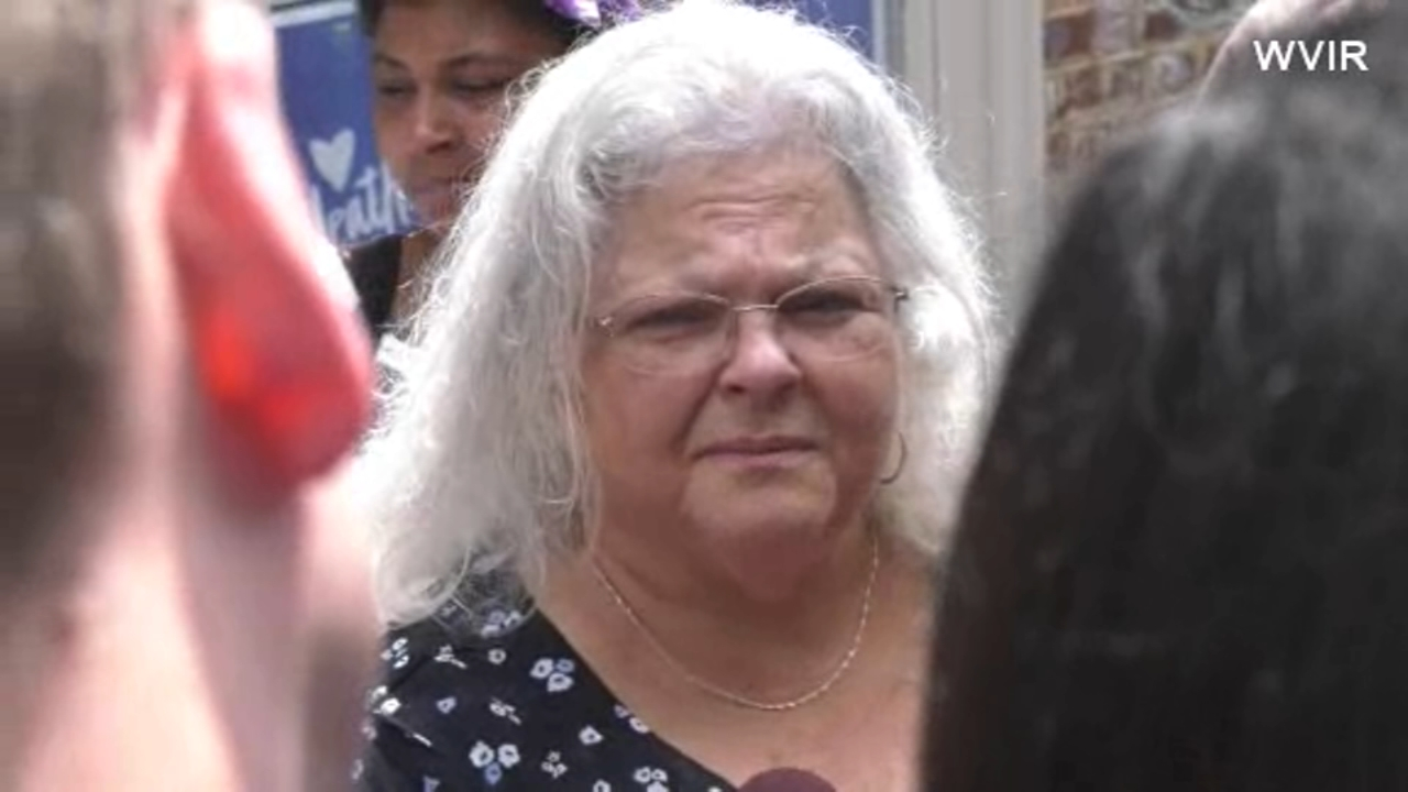 Susan Bro, mother of Heather Heyer, visited the site where her daughter was killed last year in Charlottesville, Virginia.