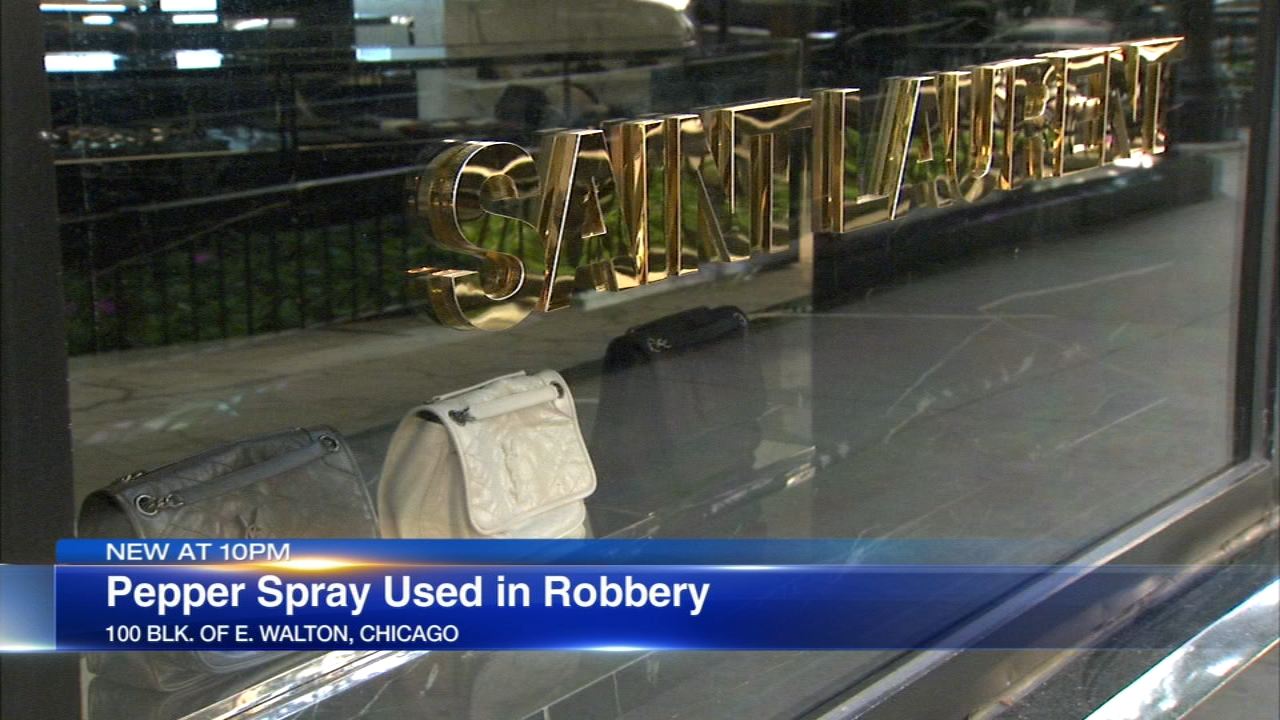 Two women robbed a Saint Laurent store in Chicago's Gold Coast neighborhood, police said.