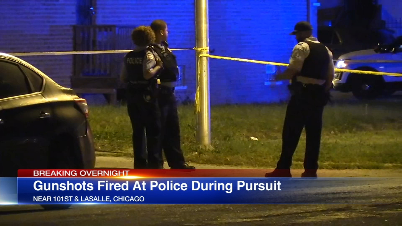 Chicago police officers were fired upon and returned fire Monday morning in the Fernwood neighborhood