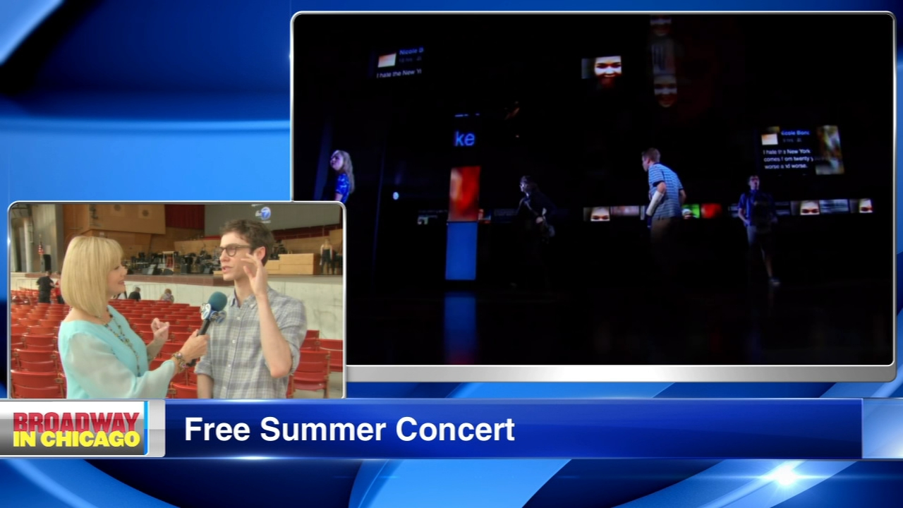 The annual Broadway in Chicago free concert will be held Monday in Millennium Park.