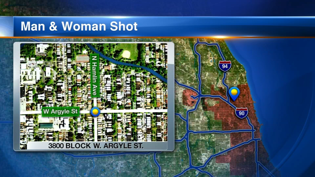 A 20-year-old man was killed and a 64-year-old woman was wounded in a shooting Monday evening in the Albany Park neighborhood on the Northwest Side, police said.