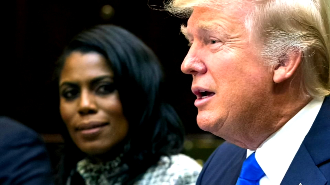 President Donald Trump unloaded on former aide Omarosa Manigault Newman Tuesday, calling her a crazed, crying lowlife and that dog.