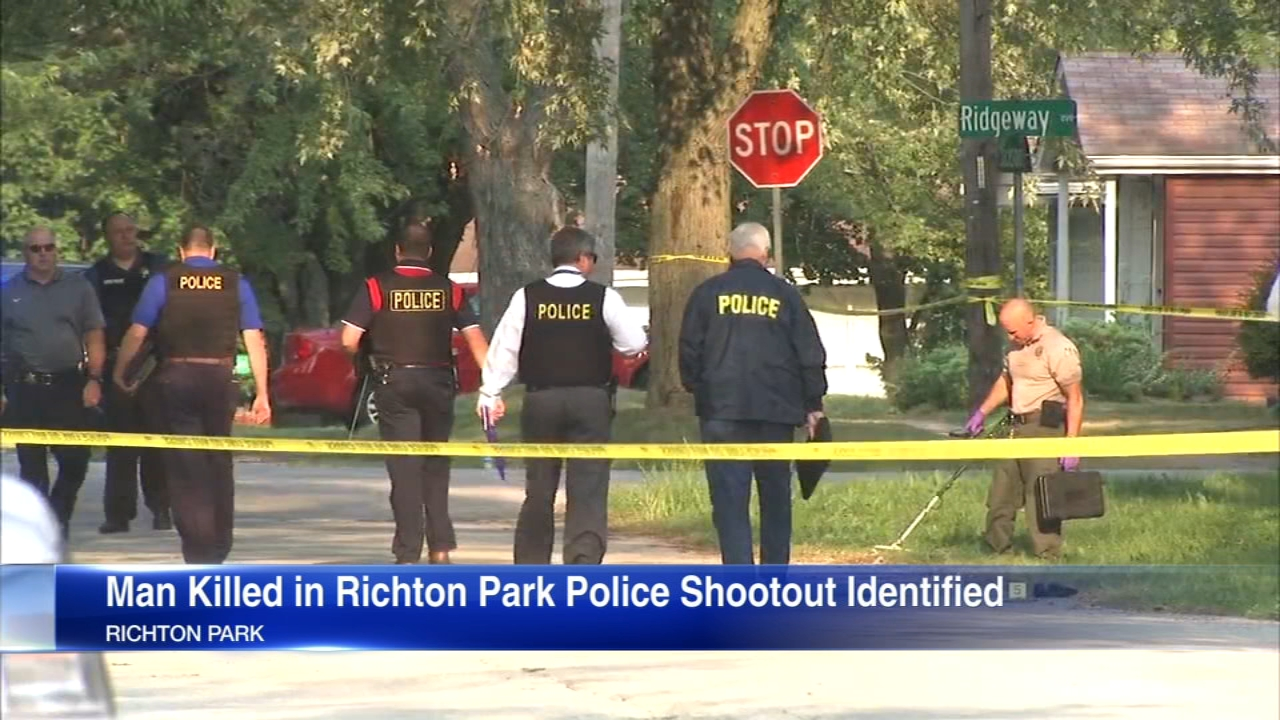 Authorities have identified the man killed in a shootout with police in South Suburban Richton Park.