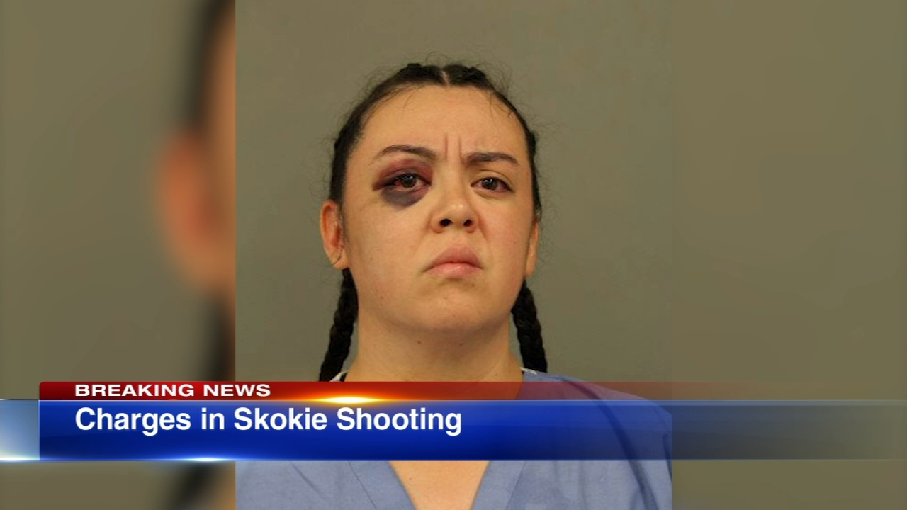 A Chicago woman was charged in the shooting death of a woman at a hotel in north suburban Skokie on Saturday.