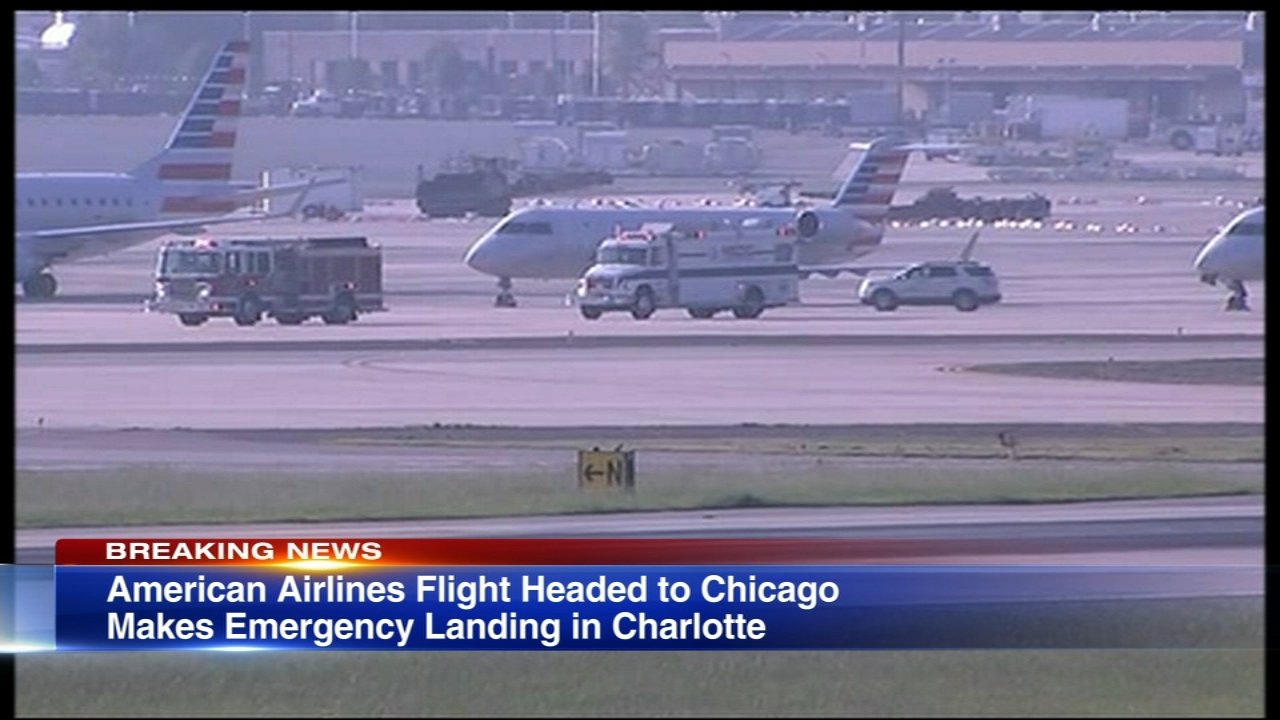 An American Airlines flight headed to Chicago made an emergency landing Wednesday morning shortly after take-off.