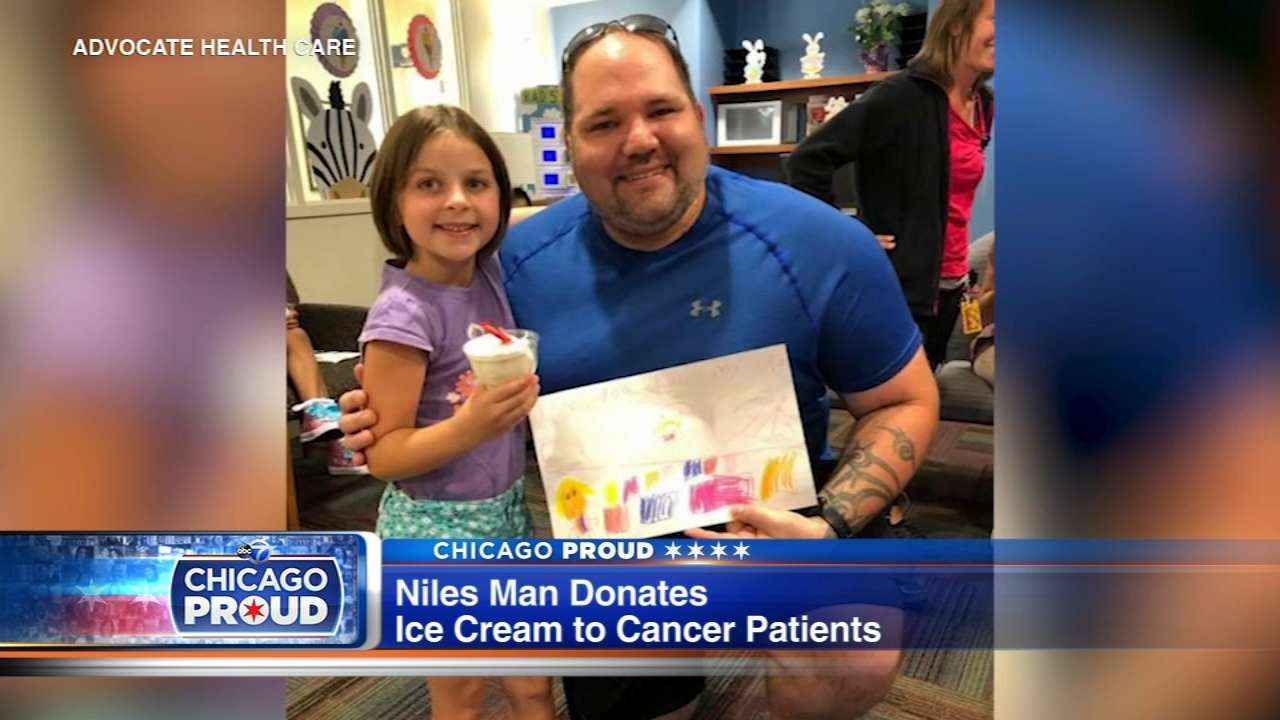 Rob Wagner donates 200 sundaes every second Friday of the month to young patients in Advocate Childrens Hospitals pediatric oncology unit in Park Ridge.