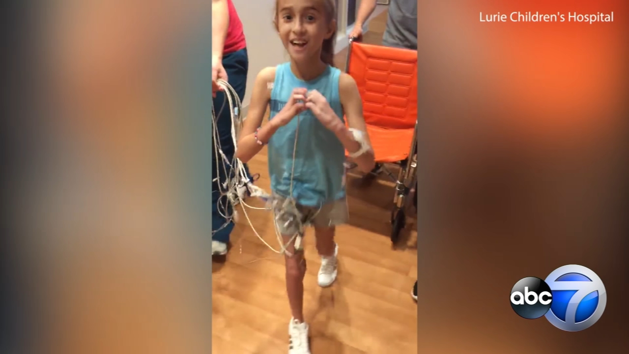 A young heart patient from suburban Downers Grove is hoping to catch her favorite artists attention with her version of the In My Feelings challenge.