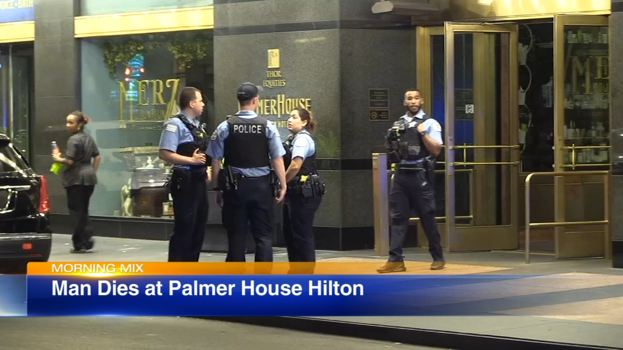Police are investigating the death of a man in a hotel in the Loop.