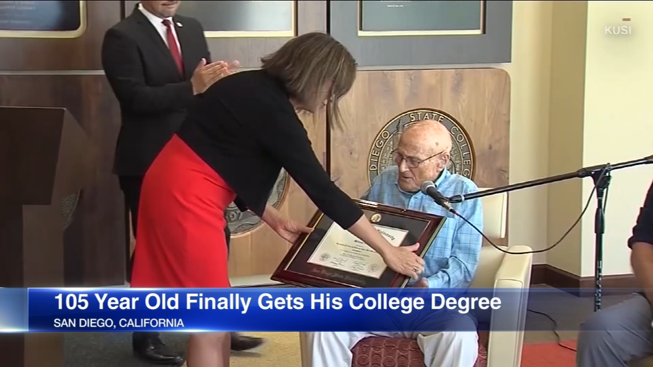 A 105-year-old man just received his college diploma… though he did the work for it more than eight decades ago.