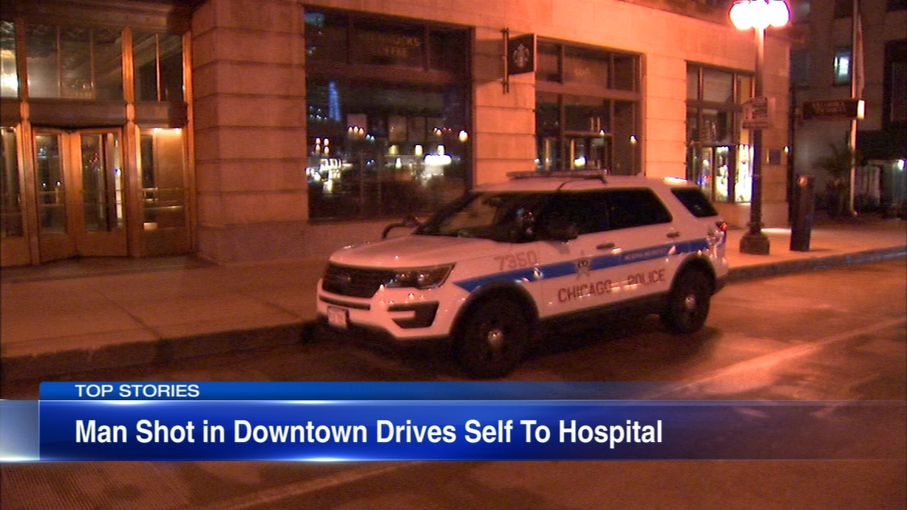 A man was shot on Wacker Drive in Chicagos Loop early Friday morning.