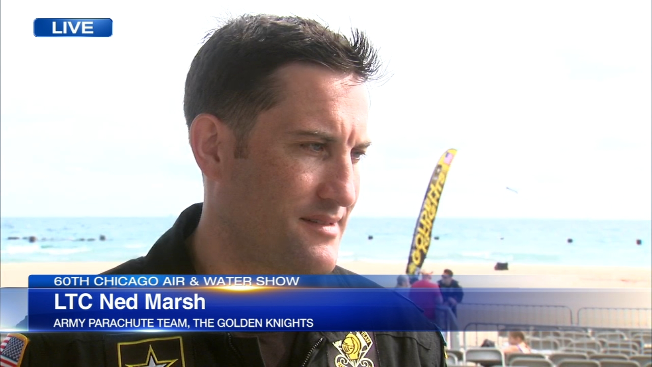 U.S. Army Lieutenant Colonel Ned Marsh talks about taking part in the Chicago Air and Water Show.