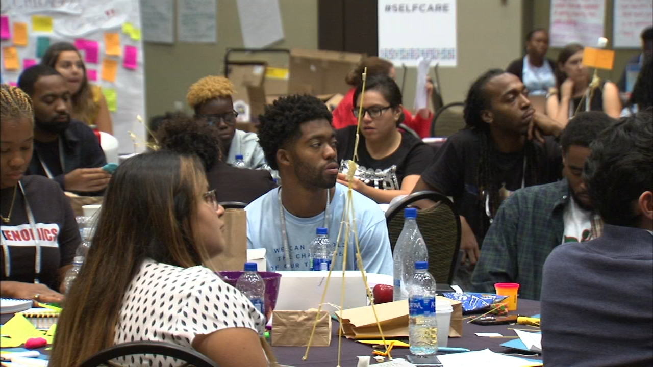 More than 100 people, ages 18 to 25, participated in an Obama Foundation leadership bootcamp.