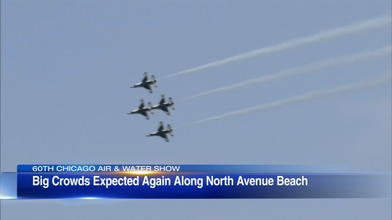 The Chicago Air and Water Show will once again take flight over the lakefront Sunday.
