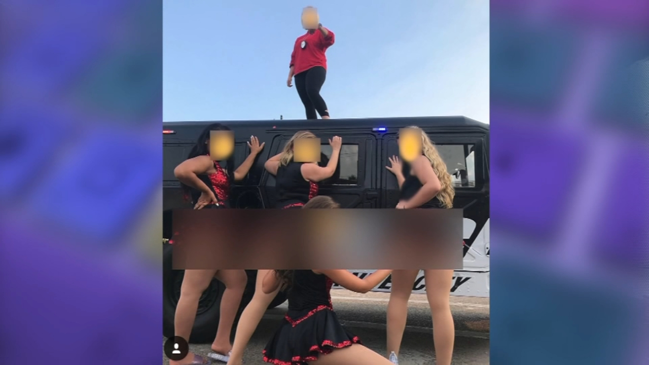 A photoshoot involving a downstate high school dance team and a local police department has created controversy.