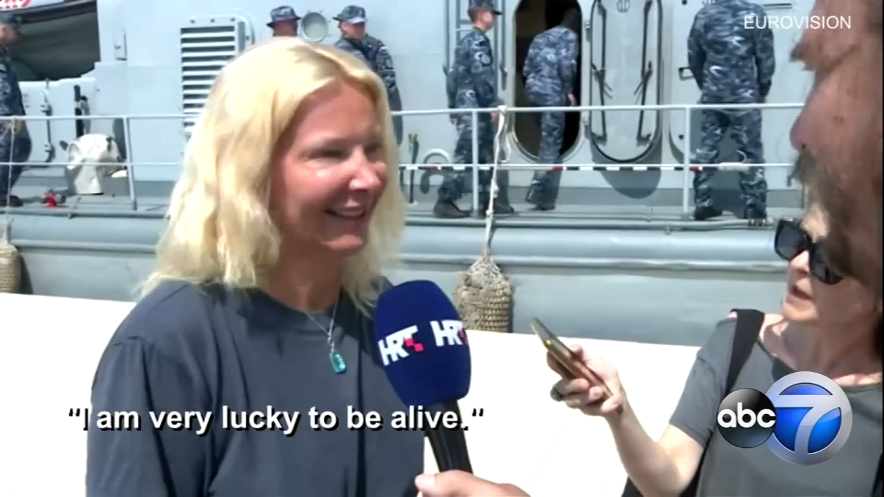 A British woman was rescued after falling from a cruise ship off the coast of Pula, Croatia and spending 10 hours in the Adriatic Sea at night.