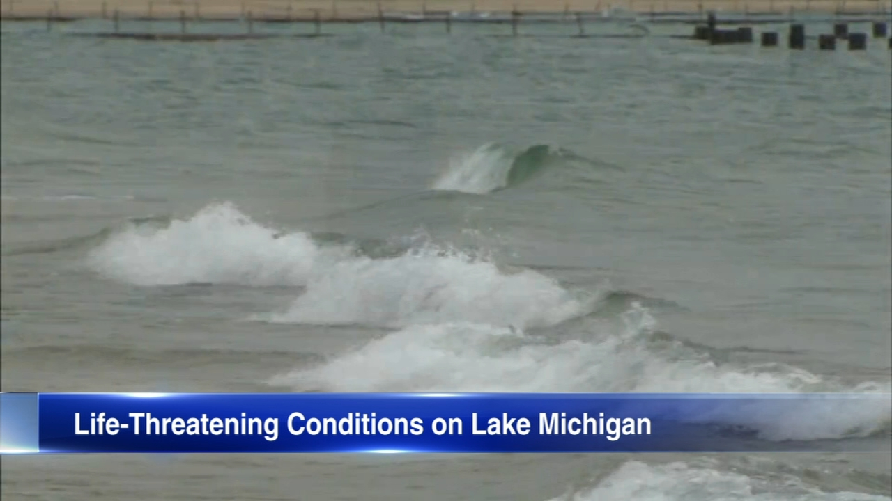 A Beach Hazard was issued Monday for Lake Michigan along Chicago area beaches.