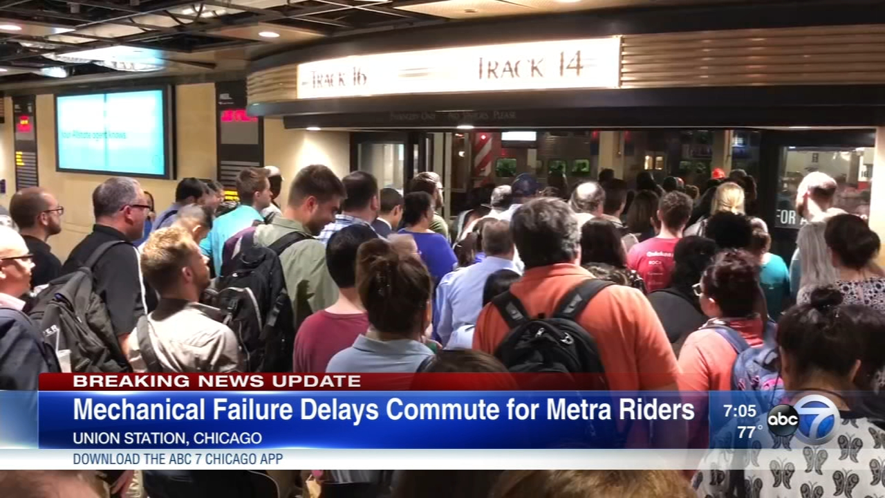 Several Metra trains were delayed due to weather, mechanical