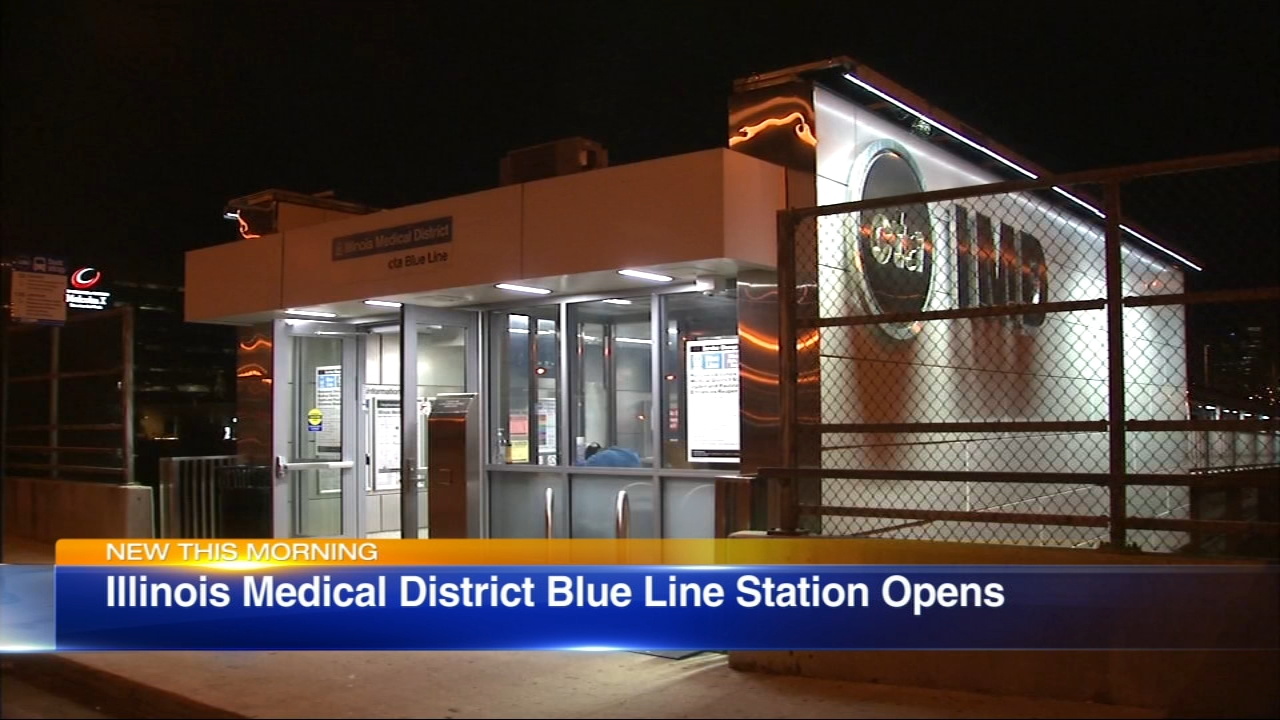 A newly renovated CTA Blue Line station will open at the Illinois Medical District on Tuesday.