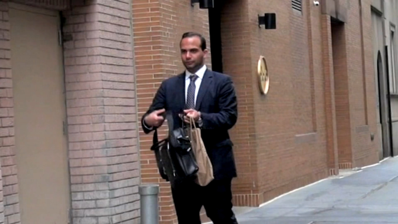 Chicagoan George Papadopoulos arriving at his lawyer's office in Chicago on Friday. He is the next Trump adviser up to bat in the Special Counsel's line-up of guilty defendants.