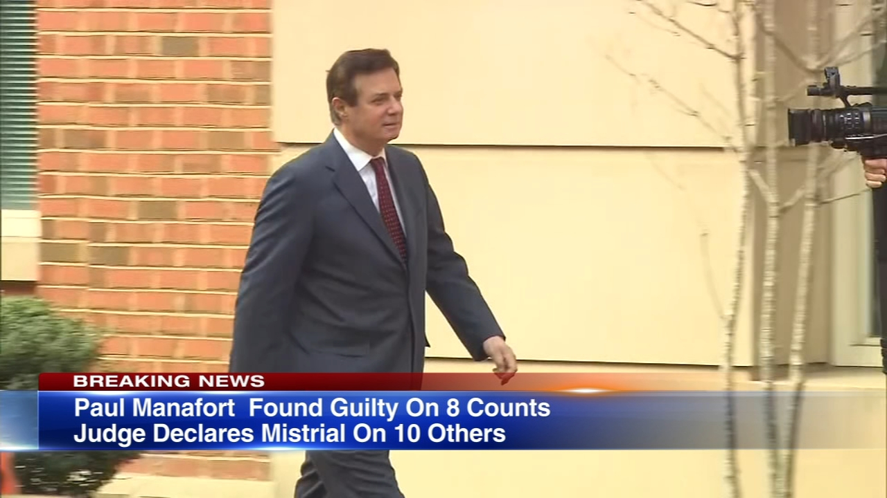 President Donald Trumps former campaign chairman Paul Manafort has been found guilty on eight counts of financial crimes, a major victory for special counsel Robert Mueller.