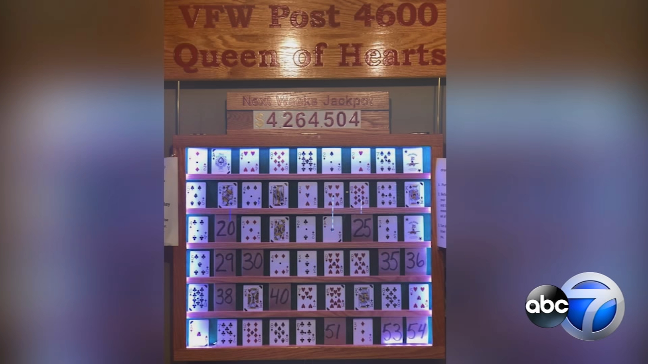 Drawing each Tuesday for the McHenry VFW Post 4600 Queen of Hearts.