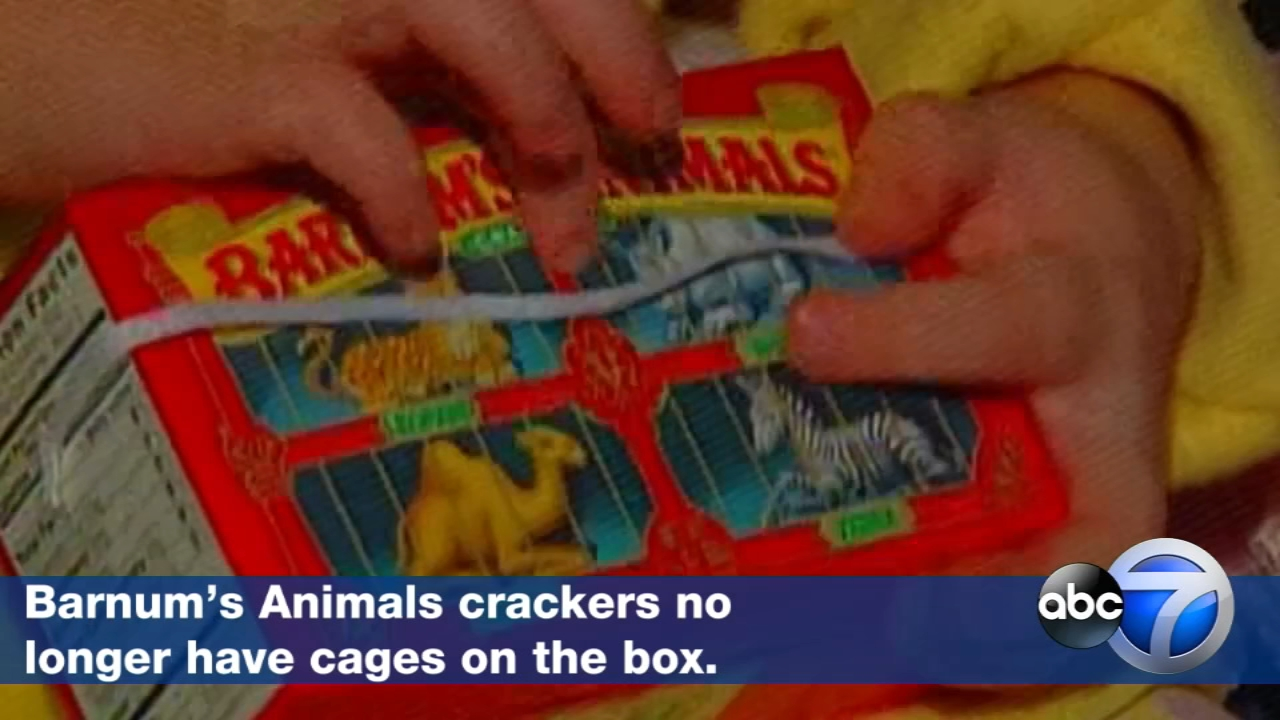 After more than a century behind bars, the beasts on boxes of animal crackers are roaming free.