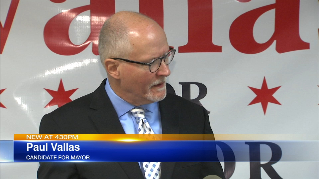 Candidate for mayor Paul Vallas spoke out against a proposed plan to borrow $10 billion to refinance the citys pension debts.
