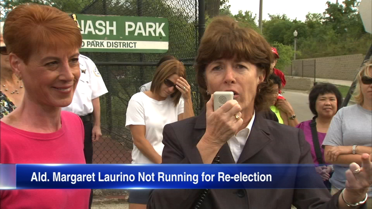 Alderman Margaret Laurino of the 39th Ward had announced Friday that she will not be seeking re-election.