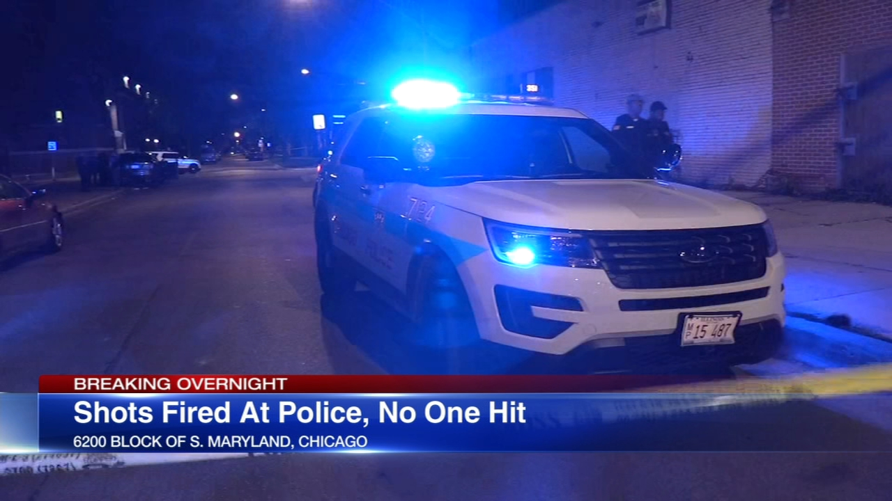 A person is in custody after someone opened fire on Chicago police officers Thursday night in the Woodlawn neighborhood, police said.