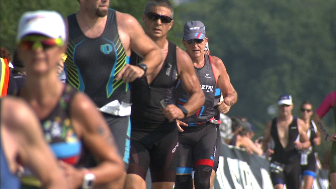 The 36th Annual Chicago Triathlon took place Sunday.