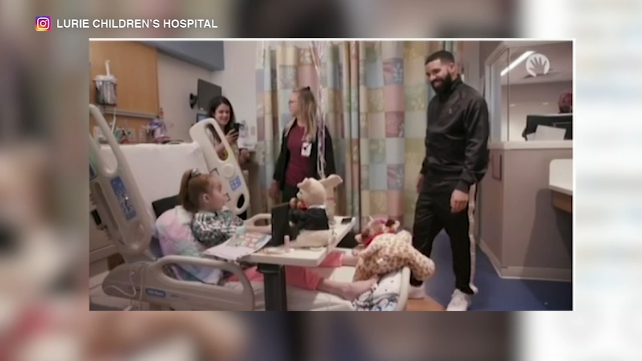 Sofia Sanchez, 11, was surprised by rapper Drake while she was waiting for a heart transplant at Lurie Childrens Hospital.