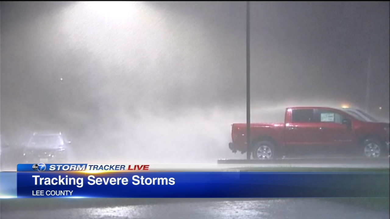 Strong storms brought heavy downpours and lots of lightning as they moved through the Chicago area Tuesday night.