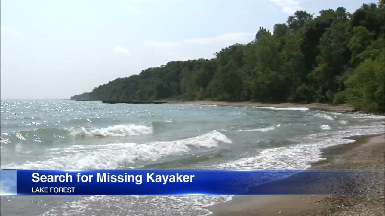 A 20-year-old Glenview man went missing after his kayak capsized on Lake Michigan.