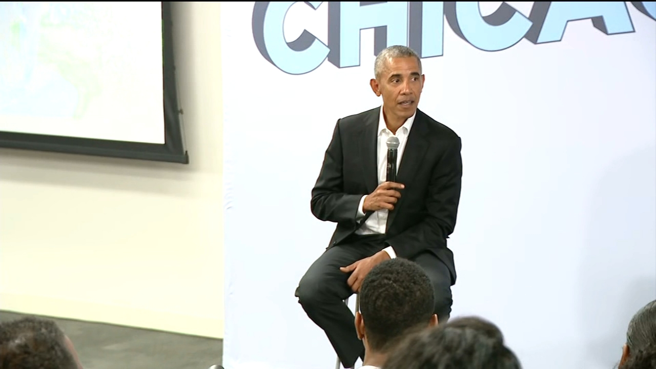 President Barack Obama was in Chicago Tuesday, meeting with student participants in the One Summer Chicago Program and thanking community members for their support at an Obama Foun