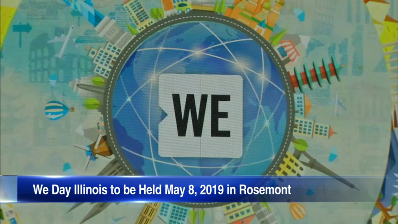 The 2019 dates for the Spring WE Day tour were announced Tuesday and include a stop at the Allstate Arena in Rosemont.