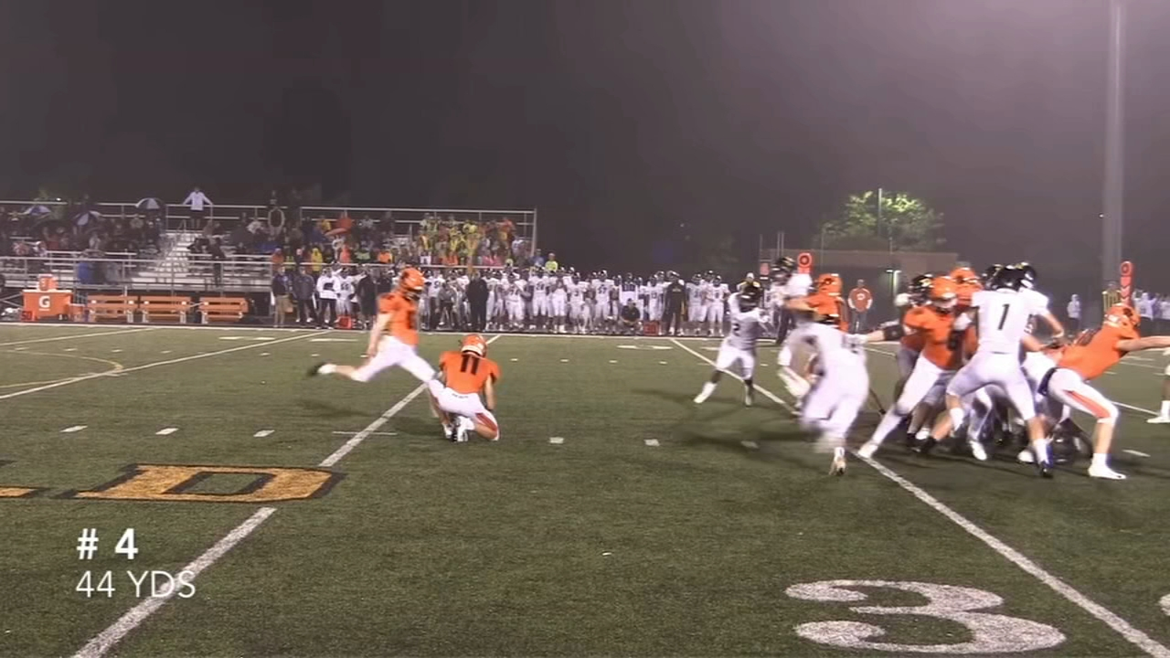Jack Olsen, the kicker for Wheaton Warrenville South High School, scored eight field goals and broke the Illinois High School Association record.