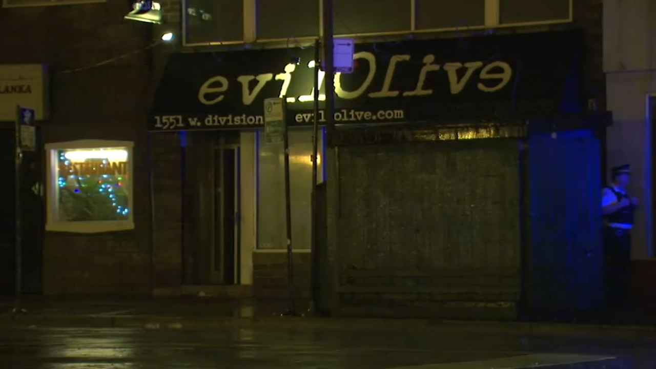 A nightclub bouncer is in critical condition after he was shot just before closing time on the Northwest Side.