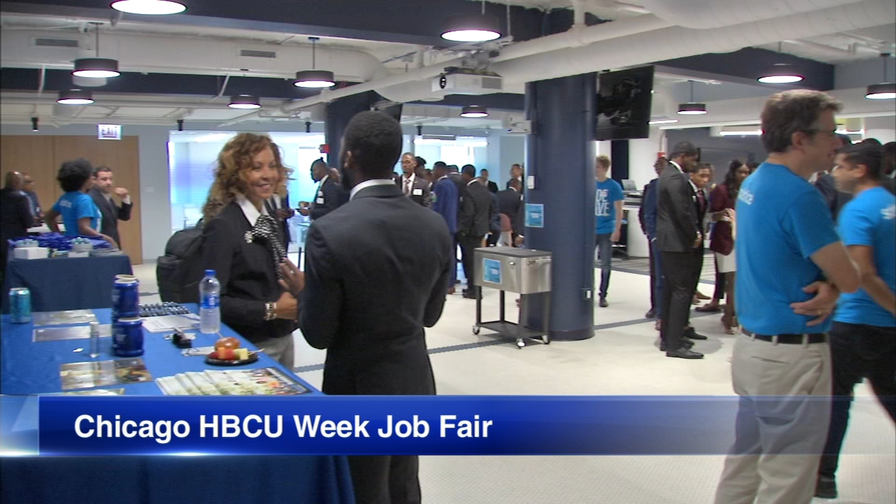 Morehouse College students got to network with hundreds of professionals from the Chicago area during a job fair Friday.