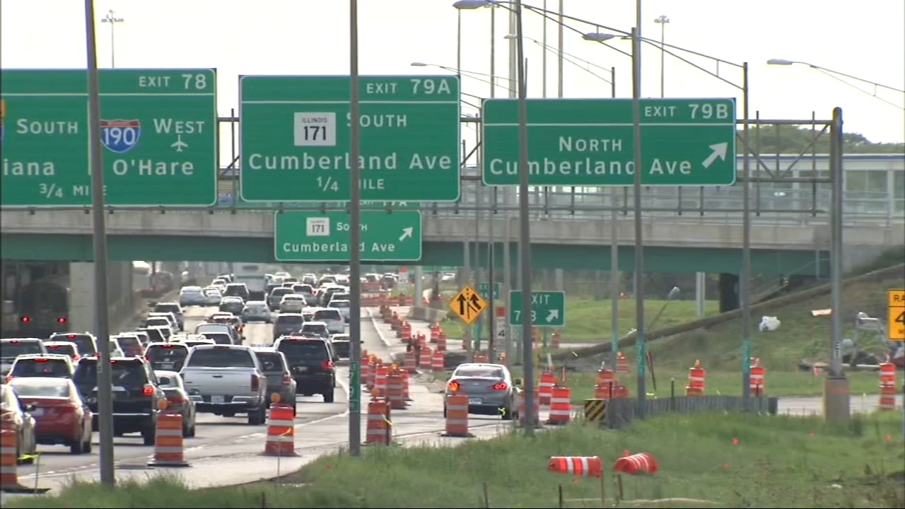 A Labor Day demonstration seeks to shut down traffic on the Kennedy Expressway near OHare International Airport on