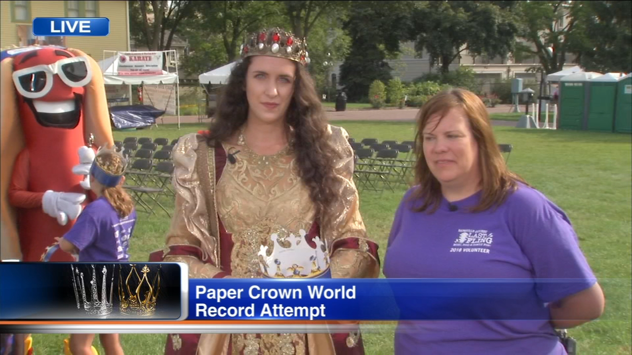 Medieval Times characters will be on hand at an attempt to break the world record for Most Paper Crowns Worn at Napervilles Last Fling Sunday.