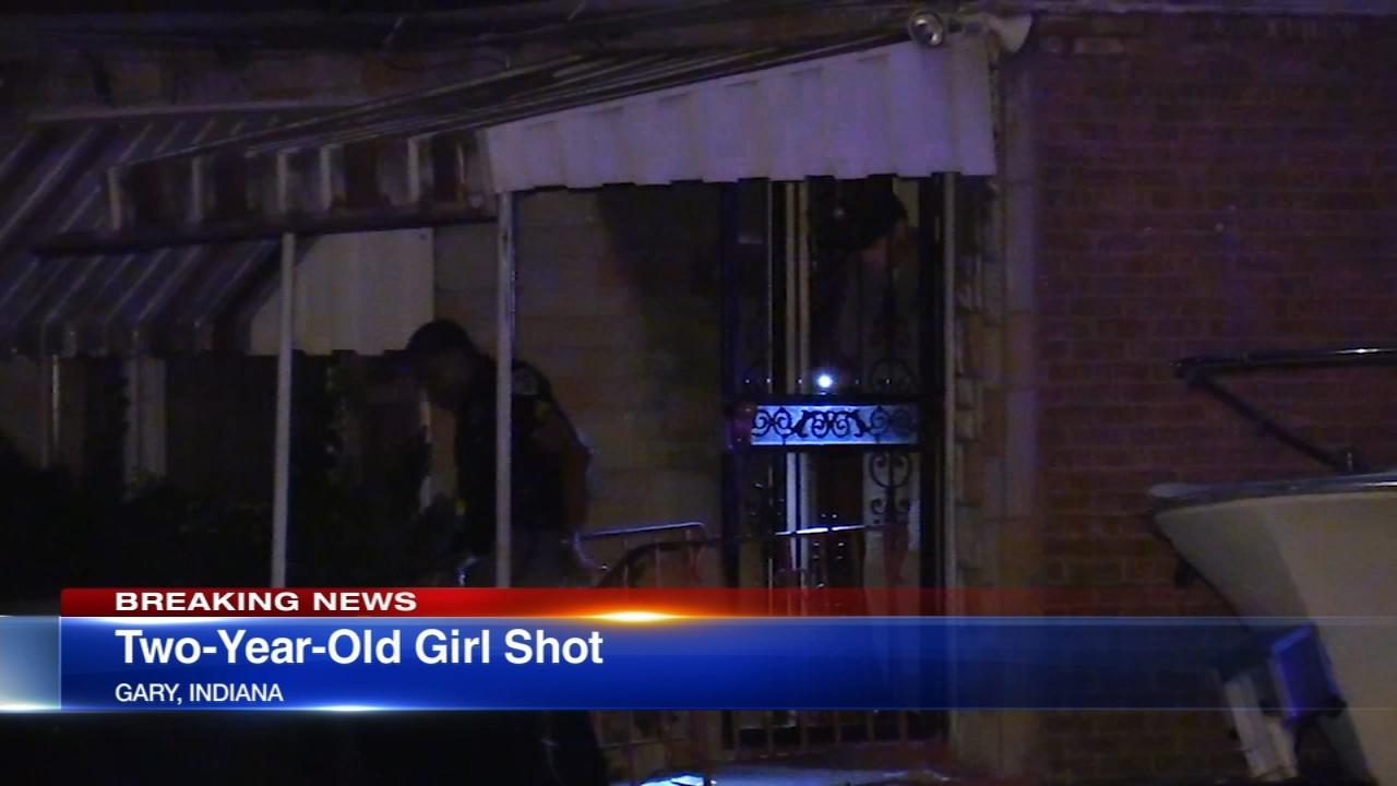Police say a two-year-old girl was shot in the head inside of a home in Gary, Indiana.