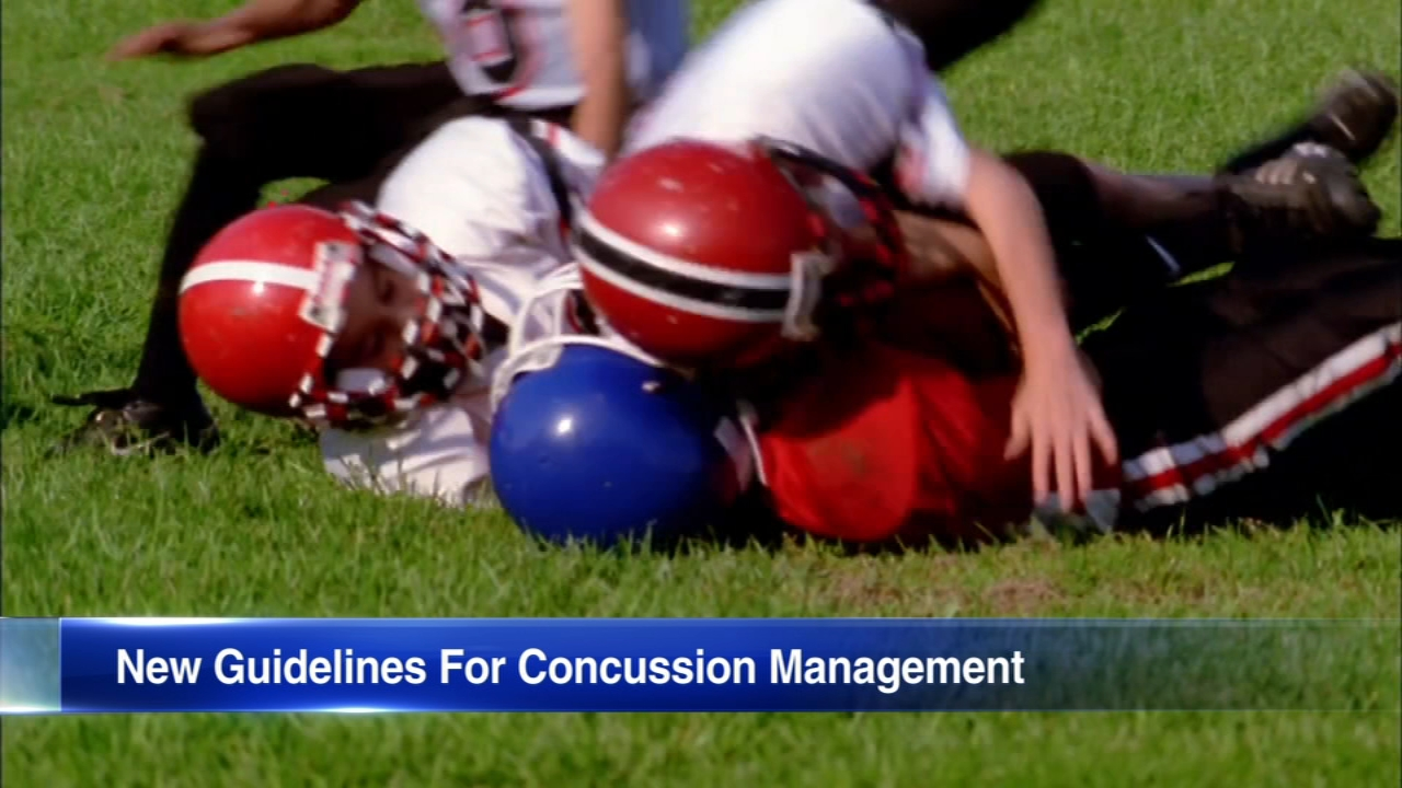 The CDC has issued guidelines for the first time on treating children with concussions.