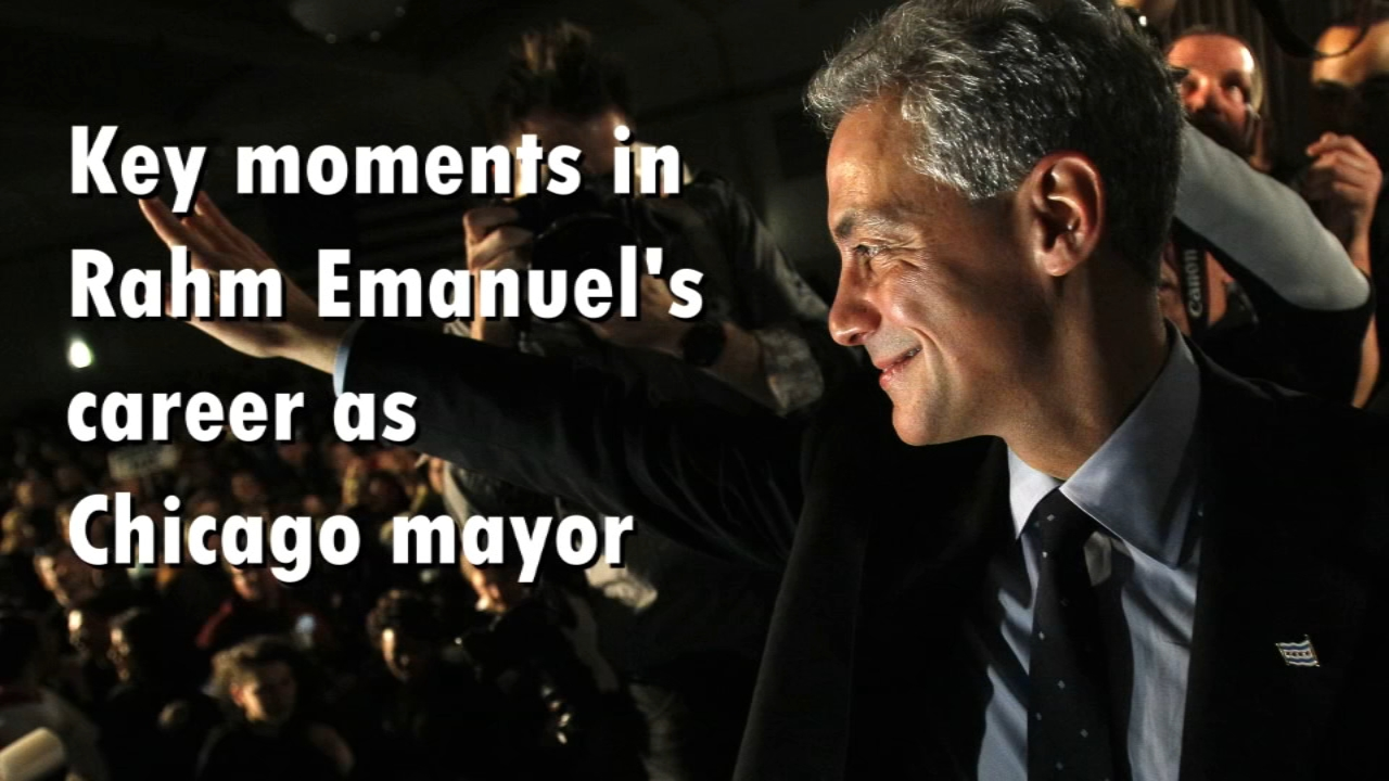 Take a look back at the moments that shaped Rahm Emanuels career as mayor of Chicago.