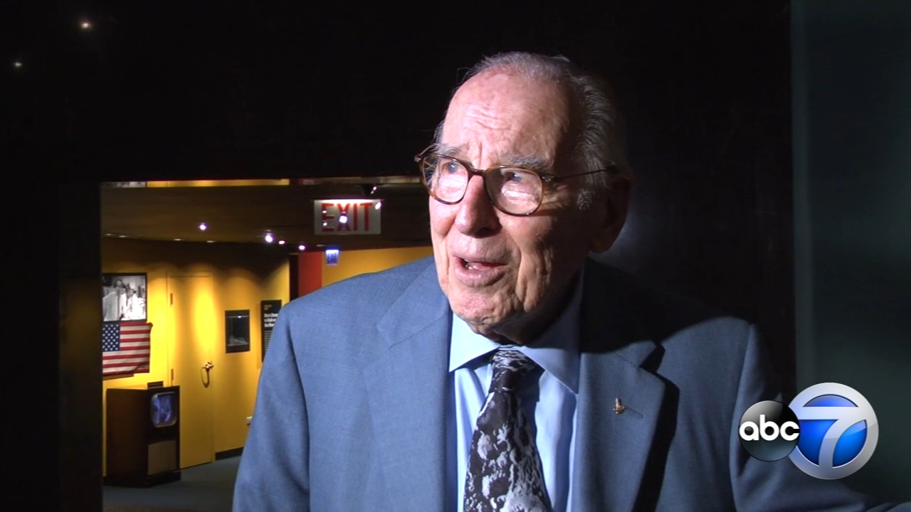 At 90 years old, sporting a moon crater tie, legendary astronaut James Lovell still beams when talking about outer space.