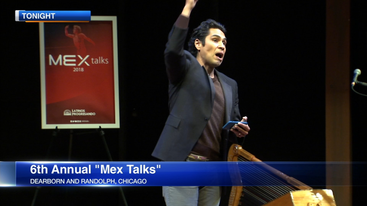 Latin speakers took to the stage Thursday night at the Goodman Theater for the sixth annual Mex Talks.