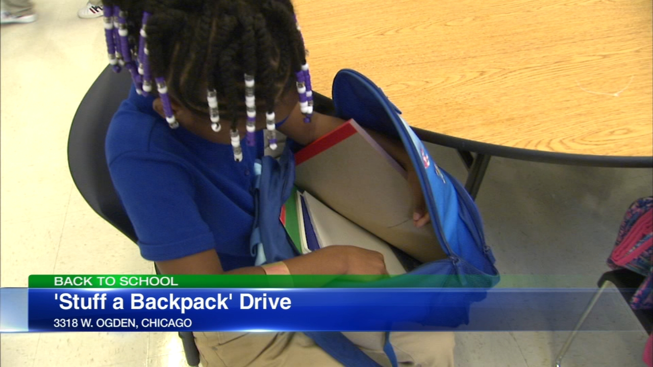 Disney VoluntEARS and the Boys and Girls Club of Chicago teamed up to stuff backpacks for Legacy Charter School students.