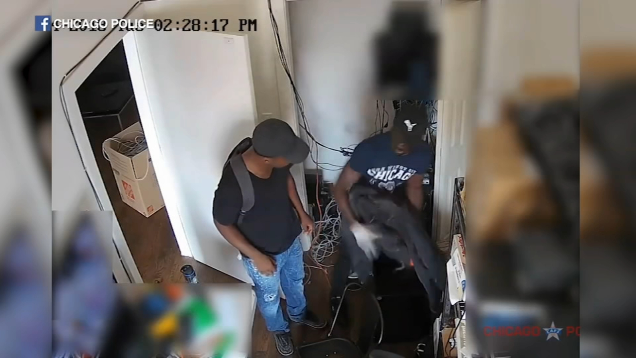 Chicago police have released surveillance video of a burglary at a business in Wicker Park last month.
